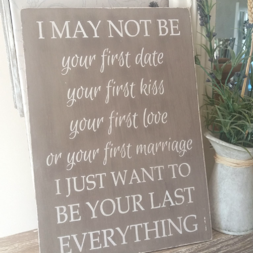 Large Plaque- I May Not Be Your First Date